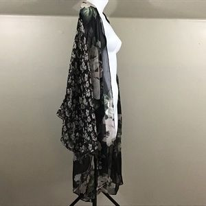 Cejon Accessories - Cejon Kimono Black Pink Green Floral